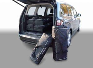 Ford Galaxy III MPV - 2015 en verder 7 seats; with 3rd row of seats folded down - Car-bags tassen F10901S