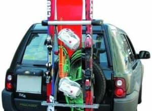 GEV 8992 skidrager reservewiel 4x4-SUV 5 paar ski's of 2 snowboards