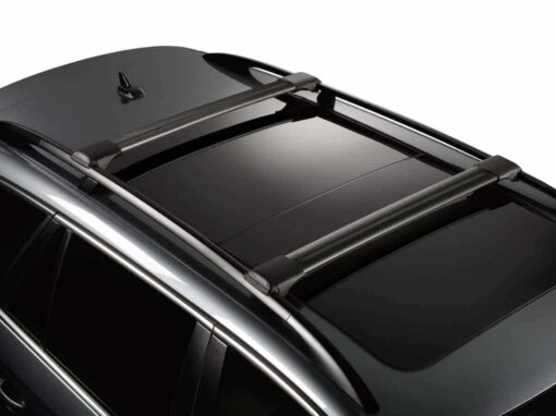 Whispbar Dakdragers (Black) Mitsubishi Shogun 5dr SUV met Dakrails bouwjaar 2015 - e.v. Complete set Dakdragers