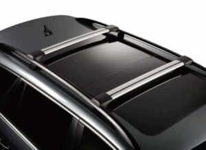 Whispbar Dakdragers (Zilver) Ford Tourneo Courier 5dr Van met Dakrails bouwjaar 2014 - e.v.|Complete set Dakdragers