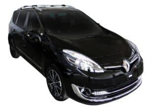 Whispbar Dakdragers (Zilver) Renault Grand Scenic 5dr MPV met Dakrails bouwjaar 2013 - 2016|Complete set Dakdragers