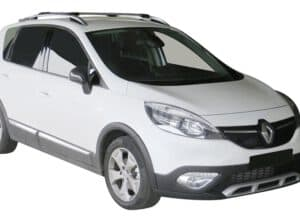 Whispbar Dakdragers (Zilver) Renault Scenic X-Mod 5dr MPV met Dakrails bouwjaar 2012 - e.v.|Complete set Dakdragers