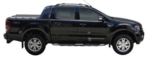 Whispbar Dakdragers (Zilver) Ford Ranger Wildtrak 4dr Ute met Dakrails bouwjaar 2012 - 2015|Complete set Dakdragers