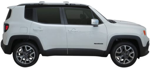 Whispbar Dakdragers (Black) Jeep Renegade 5dr SUV met Dakrails bouwjaar 2014 - e.v. Complete set Dakdragers