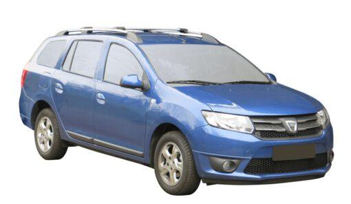 Whispbar Dakdragers (Zilver) Dacia Logan MCV 5dr Estate met Dakrails bouwjaar 2013 - e.v.|Complete set Dakdragers