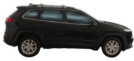 Whispbar Dakdragers (Zilver) Jeep Cherokee 5dr SUV met Dakrails bouwjaar 2014 - e.v. Complete set Dakdragers