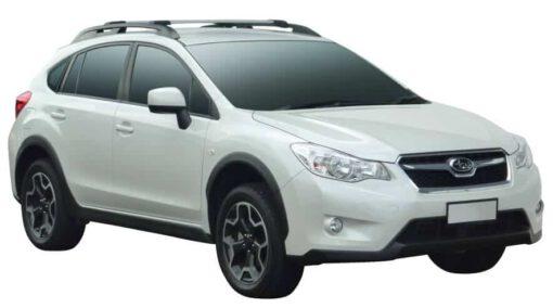 Whispbar Dakdragers (Zilver) Subaru XV 5dr SUV met Dakrails bouwjaar 2012-2015|Complete set dakdragers