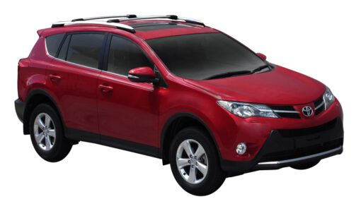 Whispbar Dakdragers (Zilver) Toyota Rav 4 5dr SUV met Dakrails bouwjaar2013- 2015|Complete set