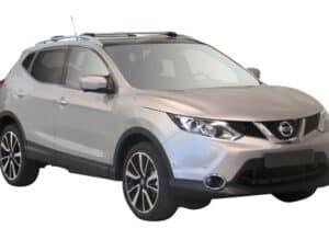 Whispbar Dakdragers (Zilver) Nissan Qashqai 5dr SUV met Dakrails bouwjaar 2014-2017|Complete set dakdragers