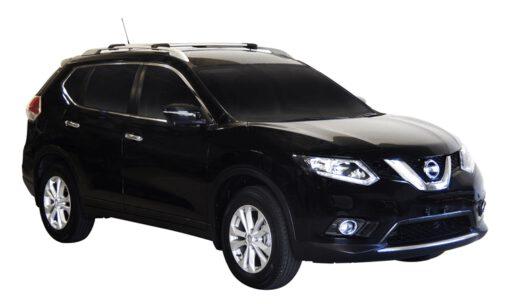 Whispbar Dakdragers (Zilver) Nissan X-Trail 5dr SUV met Dakrails bouwjaar 2014-2017 Complete set dakdragers
