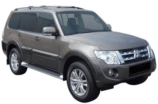 Whispbar Dakdragers (Zilver) Mitsubishi Pajero 5dr SUV met Dakrails bouwjaar 2012-2015|Complete set dakdragers