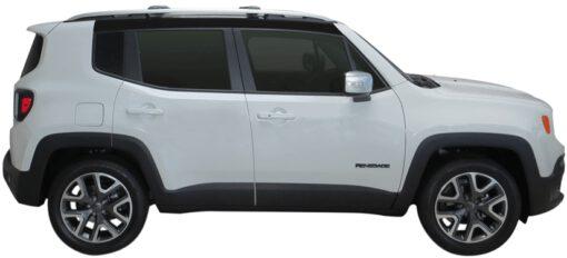 Whispbar Dakdragers (Zilver) Jeep Renegade 5dr SUV met Dakrails bouwjaar 2014-e.v. Complete set dakdragers