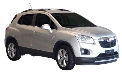 Whispbar Dakdragers (Zilver) Chevrolet Trax 5dr SUV met Dakrails bouwjaar 2013 - e.v.|Complete set Dakdragers