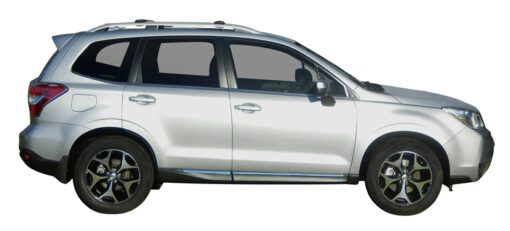 Whispbar Dakdragers (Zilver) Subaru Forester 5dr SUV met Dakrails bouwjaar 2015-e.v. Complete set dakdragers