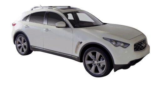 Whispbar Dakdragers (Zilver) Infiniti QX70 5dr SUV met Dakrails bouwjaar 2013-e.v. Complete set dakdragers