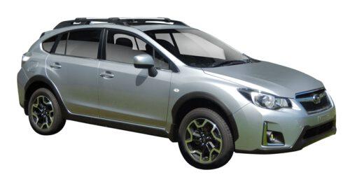 Whispbar Dakdragers (Zilver) Subaru XV 5dr SUV met Dakrails bouwjaar 2016-2017|Complete set dakdragers