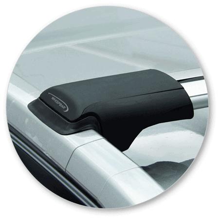 Whispbar Dakdragers (Black) Mazda 6 5dr Estate met Dakrails bouwjaar 2013-e.v.|Complete set dakdragers