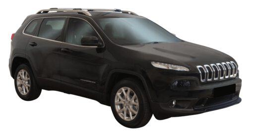 Whispbar Dakdragers (Black) Jeep Cherokee 5dr SUV met Dakrails bouwjaar 2014-e.v.|Complete set dakdragers