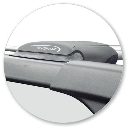 Whispbar Dakdragers (Black) SsangYong Rodius 5dr MPV met Dakrails bouwjaar 2013-e.v.|Complete set dakdragers