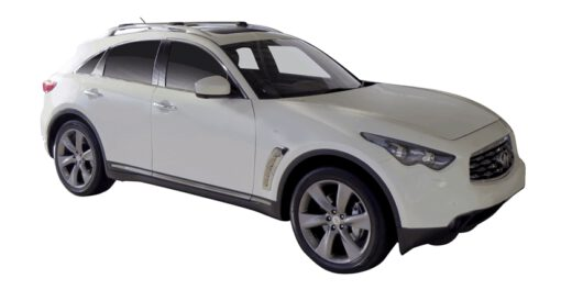 Whispbar Dakdragers (Black) Infiniti QX70 5dr SUV met Dakrails bouwjaar 2013-e.v.|Complete set dakdragers