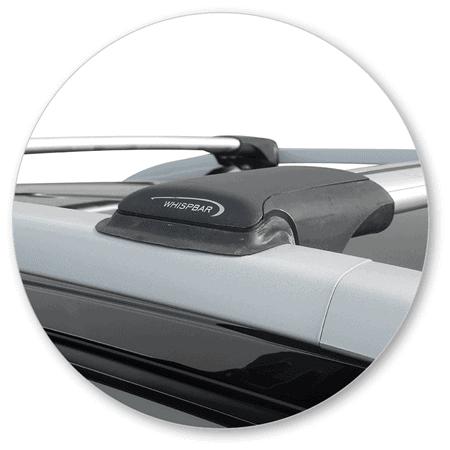 Whispbar Dakdragers (Black) SsangYong Korando 5dr SUV met Dakrails bouwjaar 2014-e.v. Complete set dakdragers
