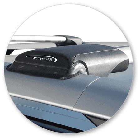 Whispbar Dakdragers (Zilver) Toyota Rav 4 5dr SUV met Dakrails bouwjaar2016- e.v. Complete set
