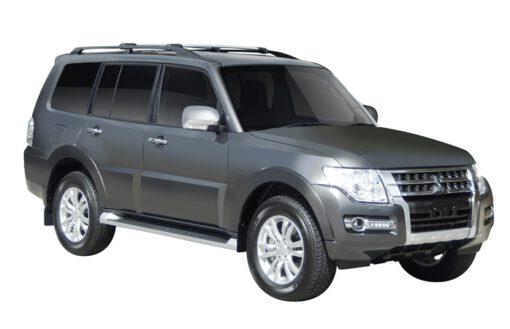 Whispbar Dakdragers (Zilver) Mitsubishi Shogun 5dr SUV met Dakrails bouwjaar 2015-e.v.|Complete set dakdragers
