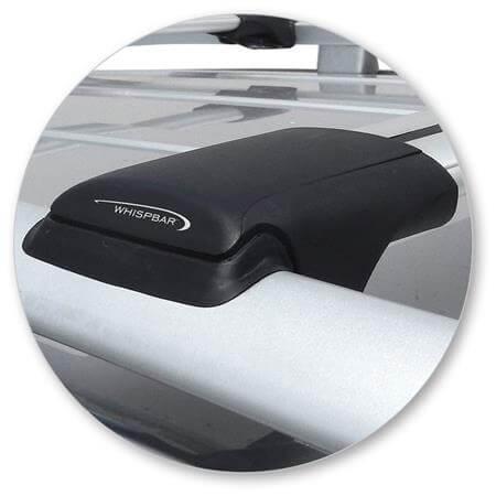 Whispbar Dakdragers (Black) SsangYong Rexton 5dr SUV met Dakrails bouwjaar 2012-e.v.|Complete set dakdragers
