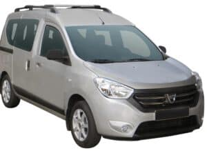 Whispbar Dakdragers (Zilver) Dacia Dokker 5dr MPV met Dakrails bouwjaar 2012 - e.v.|Complete set Dakdragers