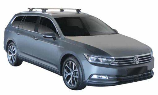 Whispbar Dakdragers (Zilver) Volkswagen Passat Variant 5dr Estate met Geintegreerde rails bouwjaar 2014-e.v.|Complete set dakdragers