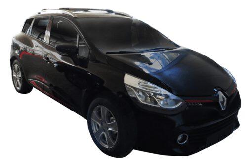 Whispbar Dakdragers (Zilver) Renault Clio 5dr Estate met Dakrails bouwjaar 2013 - e.v.|Complete set Dakdragers