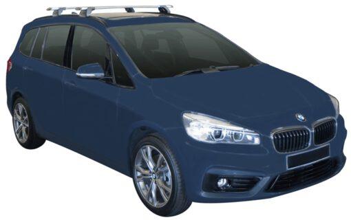 Whispbar Dakdragers (Zilver) BMW 2 Series Gran Tourer 5dr MPV met Geintegreerde rails bouwjaar 2015 - e.v.|Complete set dakdragers