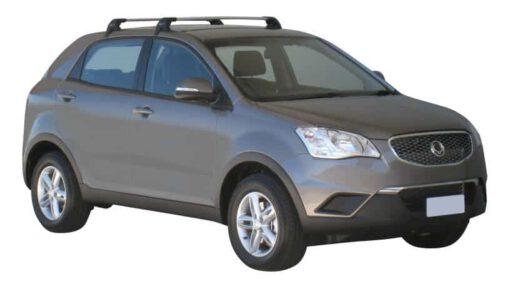 Whispbar Dakdragers (Zilver) SsangYong Korando 5dr SUV met Glad dak bouwjaar 2011 - e.v. Complete set dakdragers