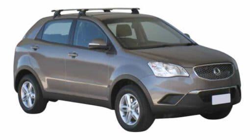 Whispbar Dakdragers (Zilver) SsangYong Korando 5dr SUV met Glad dak bouwjaar 2011 - e.v.|Complete set dakdragers