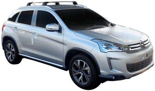 Whispbar Dakdragers (Zilver) Citroen C4 Aircross 5dr SUV met Geintegreerde rails bouwjaar 2012 - 2015 Complete set dakdragers