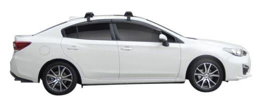 Whispbar Dakdragers (Zilver) Subaru Impreza 4dr Sedan met Glad dak bouwjaar 2017 - e.v.|Complete set dakdragers
