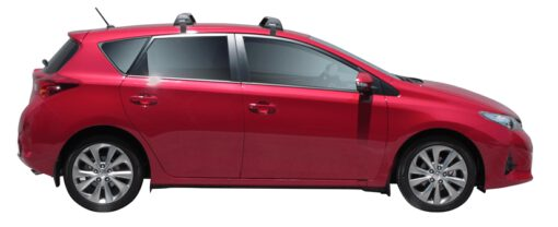 Whispbar Dakdragers (Zilver) Toyota Auris 5dr Hatch met Glad dak bouwjaar 2012 - 2015|Complete set dakdragers