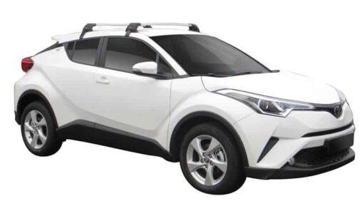 Whispbar Dakdragers (Zilver) Toyota C-HR 5dr SUV met Glad dak bouwjaar 2016 - e.v. Complete set dakdragers