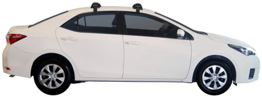 Whispbar Dakdragers (Zilver) Toyota Corolla 4dr Sedan met Glad dak bouwjaar 2014 - e.v.|Complete set dakdragers