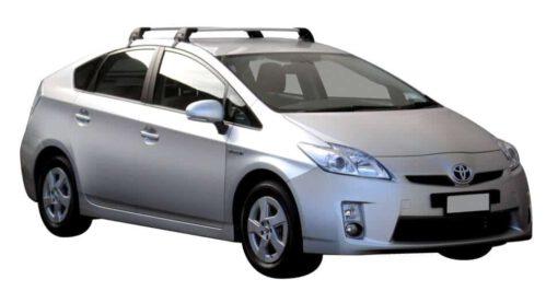 Whispbar Dakdragers (Zilver) Toyota Prius 5dr Hatch met Glad dak bouwjaar 2012 - 2015|Complete set dakdragers