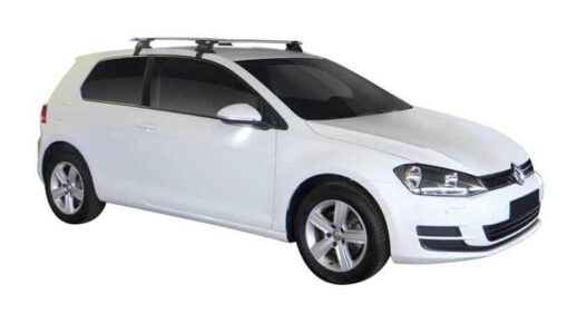 Whispbar Dakdragers (Zilver) Volkswagen Golf MK7 3dr Hatch met Glad dak bouwjaar 2012 - e.v. Complete set dakdragers