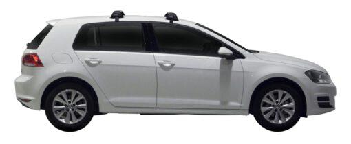 Whispbar Dakdragers (Zilver) Volkswagen Golf MK7 5dr Hatch met Glad dak bouwjaar 2013 - 2017 Complete set dakdragers