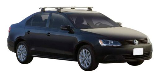 Whispbar Dakdragers (Zilver) Volkswagen Jetta Mk6 4dr Sedan met Glad dak bouwjaar 2011 - e.v.|Complete set dakdragers