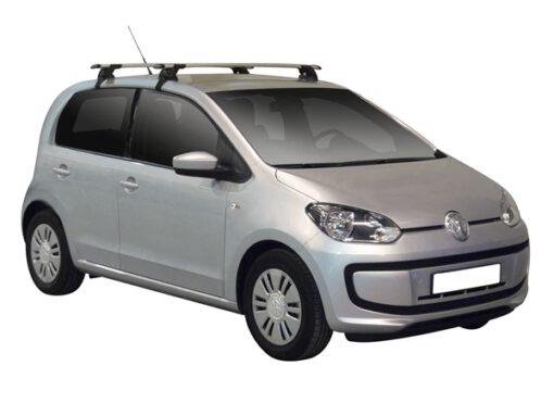 Whispbar Dakdragers (Zilver) Volkswagen up! 5dr Hatch met Glad dak bouwjaar 2012 - 2016|Complete set dakdragers