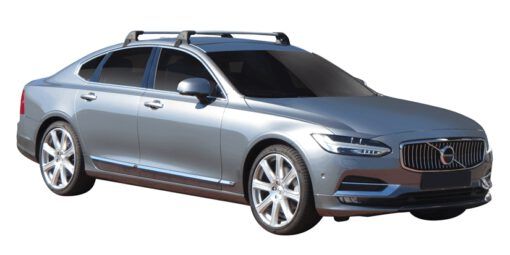 Whispbar Dakdragers (Zilver) Volvo S90 4dr Sedan met Glad dak bouwjaar 2016 - e.v.|Complete set dakdragers