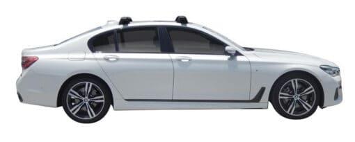Whispbar Dakdragers (Black) BMW 7 Series G11 4dr Sedan met Vaste bevestigingspunten bouwjaar 2016 - e.v. Complete set dakdragers