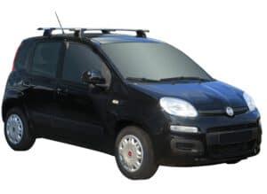 Whispbar Dakdragers (Black) Fiat Panda 5dr Hatch met Vaste bevestigingspunten bouwjaar 2012 - e.v. Complete set dakdragers