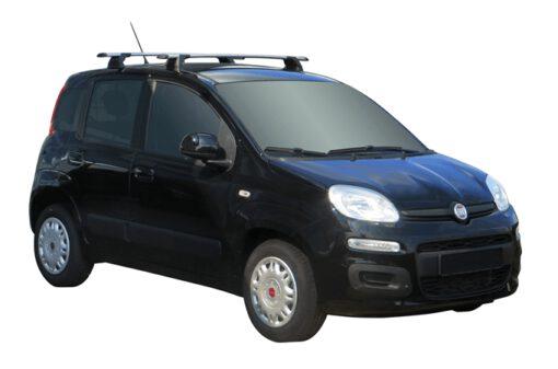 Whispbar Dakdragers (Black) Fiat Panda 5dr Hatch met Vaste bevestigingspunten bouwjaar 2012 - e.v.|Complete set dakdragers