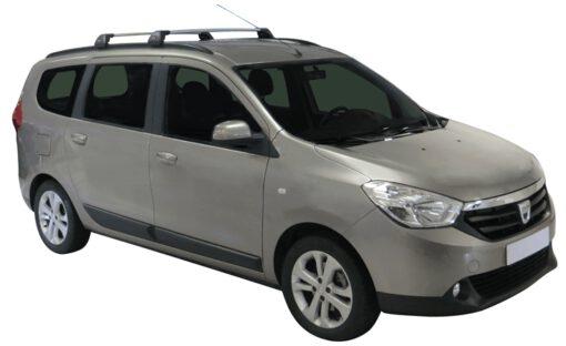 Whispbar Dakdragers (Black) Dacia Lodgy 5dr MPV met Geintegreerde rails bouwjaar 2012 - e.v.|Complete set dakdragers