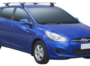 Whispbar Dakdragers (Black) Hyundai Accent 5dr Hatch met Vaste bevestigingspunten bouwjaar 2011 - 2015 Complete set dakdragers